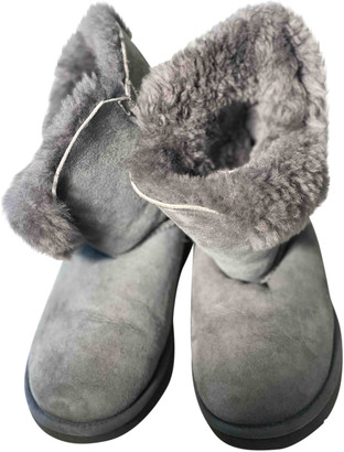 UGG Grey Faux fur Boots