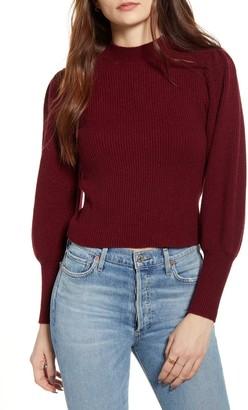 Lulus Eugenie Balloon Sleeve Sweater
