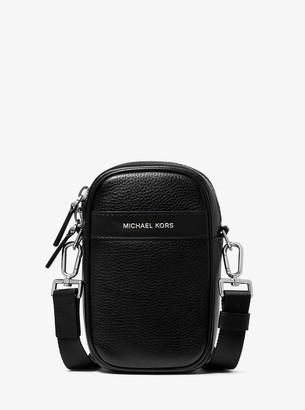 Michael Kors Greyson Pebbled Leather Smartphone Crossbody Bag