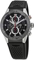 Tag Heuer Men's 43mm Rubber Band Case Automatic Watch CAR201V.FT6046