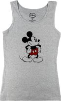 Disney Womens Retro Old School Mickey Mouse Tank Top (Large 11/13, Gray)