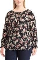 Chaps Plus Size Floral Crinkle Top