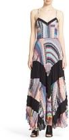 Parker Women's 'Skye' Mixed Print Silk Maxi Dress