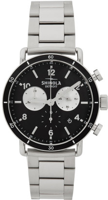 Shinola Silver and Black The Canfield Sport 40mm Watch