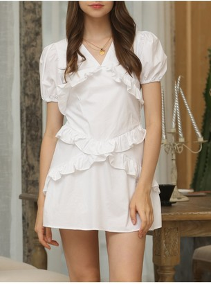 FS Collection Summer White Mini Dress