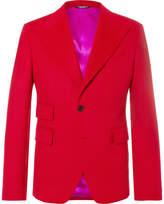 Dolce & Gabbana Red Cashmere Blazer