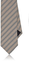 Barneys New York MEN'S HOUNDSTOOTH STRIPED SILK NECKTIE