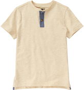Crazy 8 Brownstone Heather Cream Henley - Boys