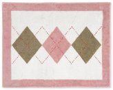 JoJo Designs Pink and Brown Argyle Accent Floor Rug by Sweet