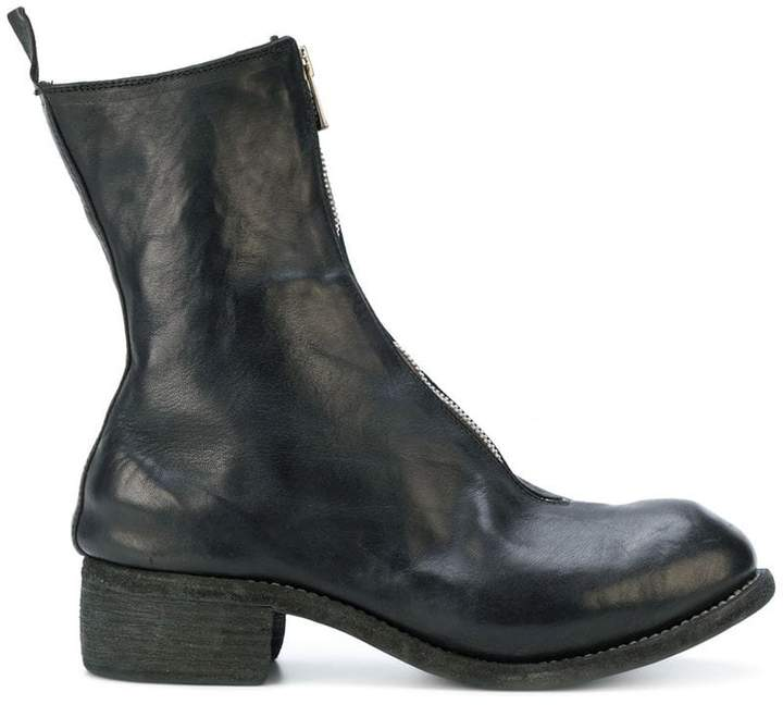 Guidi zip front ankle boots