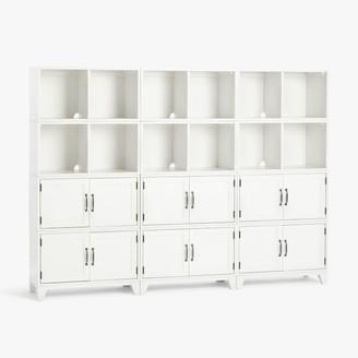 Pottery Barn Teen Hampton Triple 2-Shelf Cabinet Storage Tall Bookcase