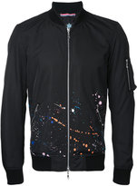 GUILD PRIME paint splatter bomber jacket - men - Polyester - 1