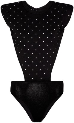 Philosophy di Lorenzo Serafini Embellished jersey bodysuit