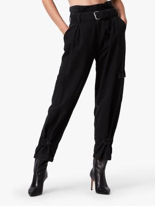 AllSaints Mona Utility Jeans, Washed Black