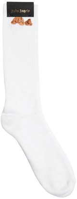 Palm Angels Bear Cotton Blend Socks