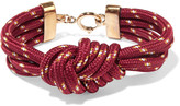 Isabel Marant Knotted gold-tone cord bracelet