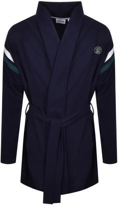 Lacoste Logo Dressing Gown Bath Robe Navy