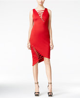 GUESS Devri Lace-Up Bodycon Dress