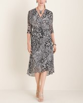 Chico's Chicos Woven Printed Surplice Dress