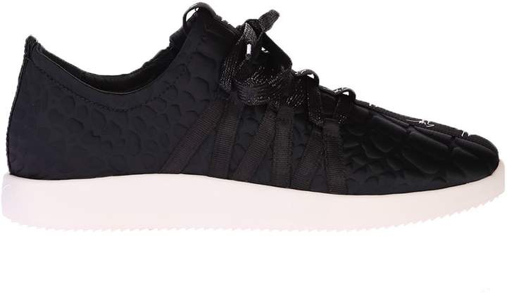 Giuseppe Zanotti Black Sneakers With Quilted Effect