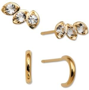 AVA NADRI 2-Pc. Set Crystal Stud & Hoop Earrings