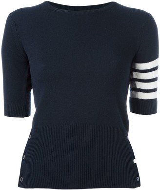 Thom Browne Cashmere Stripe Detail Sweater