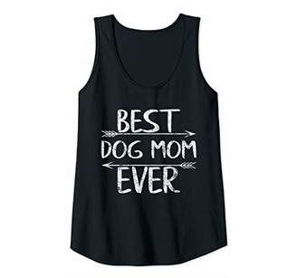 Womens Cute Mother's Day Funny Gift Best Dog Mom Ever Tank Top