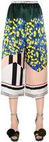 Vionnet Mimosa Printed Silk Satin Cropped Pants