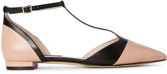 Nine West Barely Nude Alasteigh T-Strap Flats