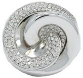 Roberto Coin 18K White Gold Diamond Swirl Ring Size 8