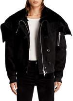 AllSaints Trux Bomber Jacket, Black