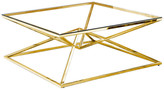 clear Best Master Furniture Glass With Gold Plated Coffee Table