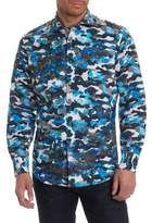 Robert Graham Camouflage Casual Button Down