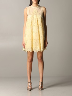 RED Valentino Dress With Floral Embroidery