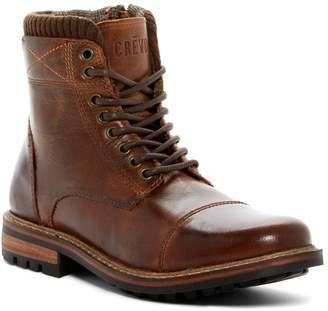 Crevo Camden Sweater Cuff Leather Boot