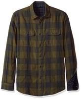 Tailor Vintage Men's Long Sleeve Gingham/Buffalo Doubleface Reversible Shirt