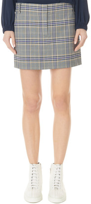 Tibi Lucas Wool-Blend Trouser Skirt