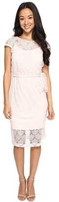 Jessica Simpson Women's Scalloped Lace Dress,6