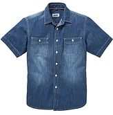 Jacamo Cassidy Short Sleeve Denim Shirt Long