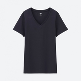 Uniqlo WOMEN Supima Cotton V Neck Short Sleeve T