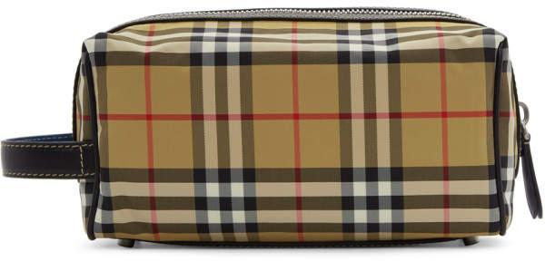Burberry Beige Vintage Check Washbag