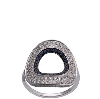 Ralph Masri 18kt White Gold Diamond Circular Shape Ring