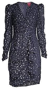 Kate Spade Women's Velvet Dotted Princess-Sleeve Sheath Dress