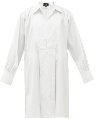 SU PARIS Popi Striped Cotton Shirt Dress - White Stripe