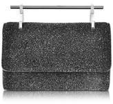 M2Malletier Women's Black Glitter Clutch.