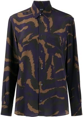 Aspesi Camouflage Print Shirt