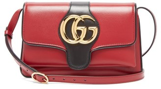 Gucci Arli Gg Leather Cross-body Bag - Womens - Burgundy Multi