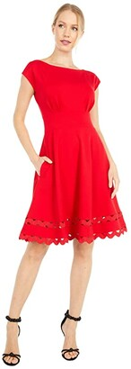 Kate Spade Ricrac Ponte Dress (Iced Cherry) Women's Dress