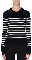 Judith & Charles Oliver Striped Chunky Wool Sweater