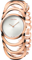 Calvin Klein Body rose gold-plated watch